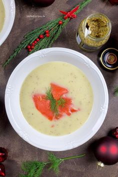 Apfel-Sellerie-Senf-Suppe, fruchtig-frisch und toll als Vorsuppe für Weihnachten. | malteskitchen.de