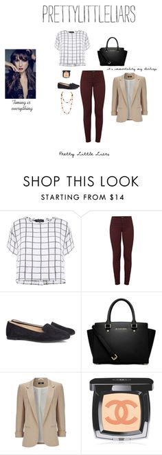 """Spencer Hastings"" by misshope23 ❤ liked on Polyvore featuring Myne, J Brand, H&M, MICHAEL Michael Kors, Wallis, Chanel and pll"