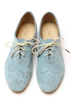 Shoes Blue Brogues, Suede Oxfords, Loafers, Pale Blue Shoes, Light Blue  Shoes 6adb8eed8923