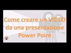 Come creare un video da una presentazione Power Point - YouTube Design Social, School Hacks, Videos, 3 D, Texts, Language, Coding, Classroom, Internet