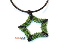 Beaded Ornament Patterns - Christmas Ornament Pattern - Peyote Stitch Patterns - Beading Tutorials and Patterns - Five Pointed Star Ornament by TheBeadClubLounge on Etsy