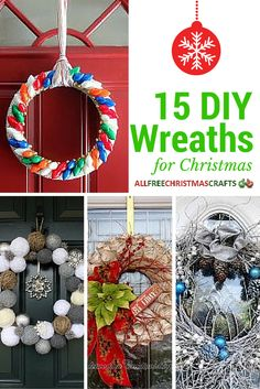 DIY wreath crafts that make amazing Christmas decorations!