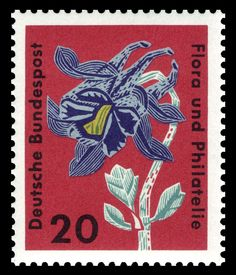 German stamp Flora and philately