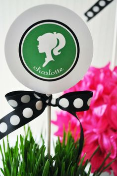 Modern Silhouette Centerpiece Stick by #whhostess chapter sneak peek from the book Stylish Kids' Parties by Kelly Lyden #stylishkidsparties