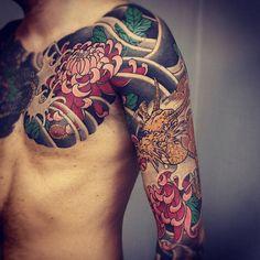 Chrysanthemum japanese tattoo