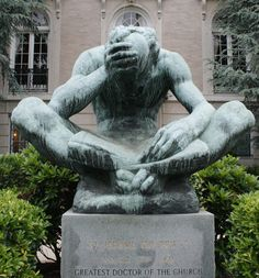 Statue of St. Jerome in Sheridan Circle, Washington, DC. Ivan Mestrovic. 1954. One of my favorite things in the city.