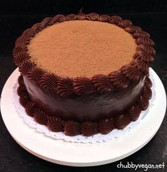 Truffle chocolate cake #vegan #desert #chocolate #chubbyvegan
