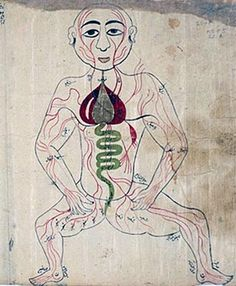 persian anatomical illustrations depicting blood letting, physician/artist unknown image courtesy of the national library of medicine  anatomical maps - eastern development in the middle ages
