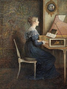 William John Hennessy. English (1839-1917) Metropolitan Museum, Gum Arabic, Pianos, Art Music, Piano Music, Music Painting, Jane Austen, John Hennessy, Music Journal