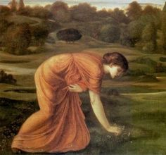 The March Marigold, 1870 by Edward Coley Burne-Jones Egyptian Hall Exhibition centre in London, England Canvas Art For Sale, Canvas Art Prints, Waiting In The Wings, Edward Burne Jones, Pre Raphaelite Brotherhood, Marigold, Famous Artists, Art Reproductions, Beautiful Paintings