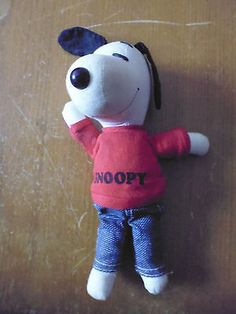 Vintage Peanuts Snoopy plush toy small