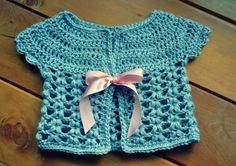 Crochet baby cardigan free pattern by ViolaBlackRaven