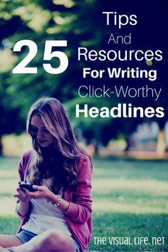 25 tips for writing headline Pinterest