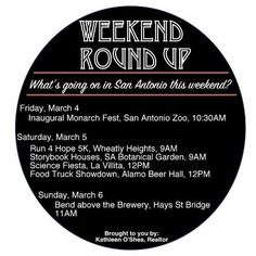 Your weekend roundup is here!  #sanantonio #weekender #sarealtor #sarealestate #zoo #sazoo #events