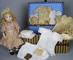 Antique French Bisque Circle Dot Bru Jne Bebe Doll Original Trousseau Wardrobe | Dolls & Bears, Dolls, Antique (Pre-1930) | eBay!