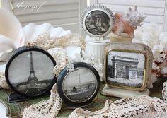 Broken alarm clocks for a vintage photo frame!