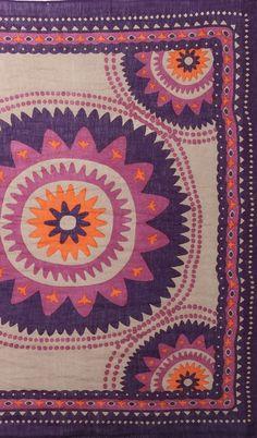 Theodora Callum Suzani purple scarf