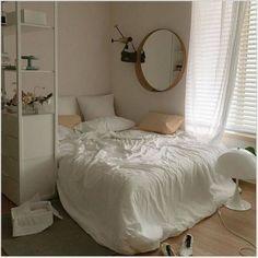 Home Decor Habitacion .Home Decor Habitacion Small Room Bedroom, Room Ideas Bedroom, Bedroom Decor, Bedroom Bed, White Bedroom, Bedroom Inspo, Minimalist Room, Cozy Room, Snug Room