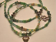 Emerald Prosperity Abundance Waistbeads by WrapandSoul on Etsy, $25.00