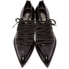 Designer Lace Ups & Oxfords for Women | SSENSE ❤ liked on Polyvore featuring shoes, oxfords, lace up oxfords, lace up shoes, laced shoes, laced up shoes and oxford lace up shoes