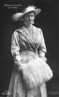 "Princess Marie Auguste (Marie Auguste Antoinette Friederike Alexandra Hilda Luise)   (1898-1983) Anhalt, Germany. Wife of Prince Joachim Franz Humbert (1890-1920) Prussia, the 6th Child of Wilhelm II (Friedrich Wilhelm Viktor Albrecht) (1859-1941) German Emperor-Prussia King & Augusta Victoria ""Dona"" (1858-1921) Schleswig-Holstein, Germany."