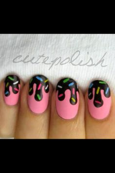 I love all of cutepolish's nail designs! This one is one of my fav's... strawberry icecream and chocolate sauce on top! Yummm