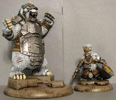 Searforge (Rhulic) Brun and Lug Minion solo and Heavy Warbeast for Warmachine