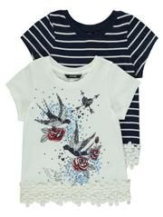 2 Pack Bird Studded T-shirts