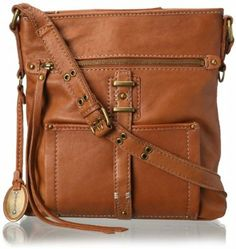 Amazon.com: Lucky Brand Ashley Large Cross Body Bag,Cognac,One Size: Shoes
