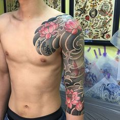 japanische Bodysuit-Tattoos - Galena U. Japanese Cloud Tattoo, Japanese Tattoos For Men, Japanese Flower Tattoo, Traditional Japanese Tattoos, Japanese Tattoo Designs, Japanese Sleeve Tattoos, Full Sleeve Tattoos, Tattoo Sleeve Designs, Bodysuit Tattoos