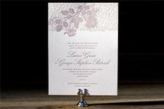 Appleberry - Invitations  Classic lace letterpress designs from Bella Figura on www.Appleberrypress.com