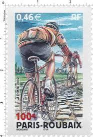 timbre vélo sur Paris-Roubaix, France