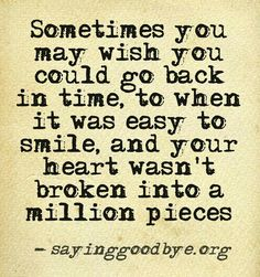 I really do :( I want to go back to the time where 'time stood still'