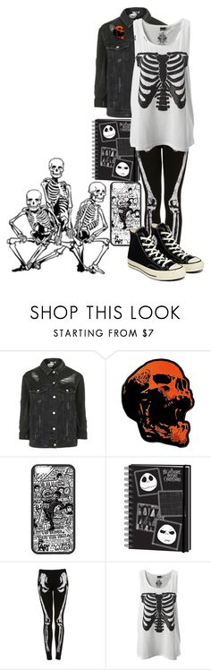 """//Till We're Stripped Down To Our Skeletons Again//"" by eveningouttoyourgrave ❤ liked on Polyvore featuring Topshop, Converse and skeleton"