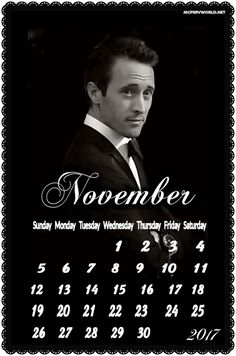 November 2017 Alex O'Loughlin Calendars