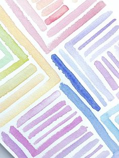 @cardsnobco Easy diy colorful abstract watercolor lines, upcoming spring line 💚💙💛🧡❤️💜