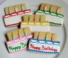 Birthday cake decorated cookie favors1 Dozen by SayitwithHeart