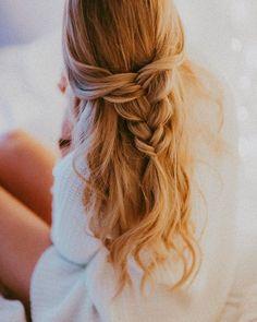 half up-do fishtail braid #EverydayHairstylesHalfUp #CrochetBraids
