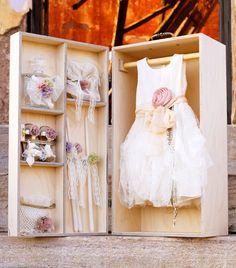des. DRESS #χειροποίητο #κουτίβάπτισης #Handmade #christening #box of natural birch wood #vaptisi #βαπτιση #designerscat