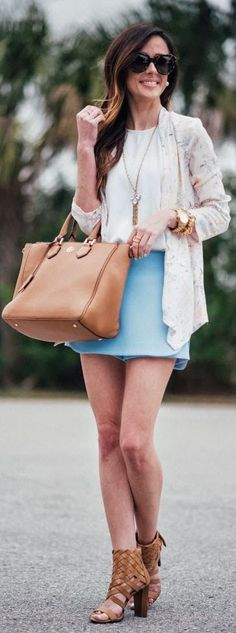 Pastel Floral Blazer Outfit Idea by Sequins & Things