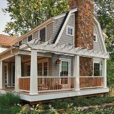 Could I do something like this to tie the porch and deck together and add some curb appeal?
