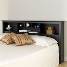 Prepac Gray Sonoma Storage Bookcase King Size Headboard | Wayfair
