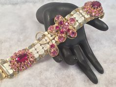 UpCycled Vintage Jewelry Bracelet 6 by WhimsicalAddictions on Etsy