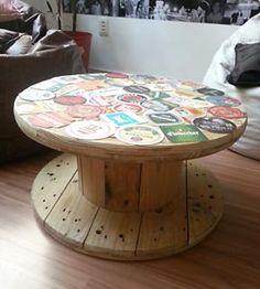 Sugestões de reciclagem no Mural da Vila Wooden Spool Tables, Cable Spool Tables, Wood Spool, Pallet Furniture, Furniture Making, Spool Crafts, Creative Decor, Wooden Diy, Wood Pallets