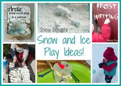 Snow and ice play ideas from The Imagination Tree.