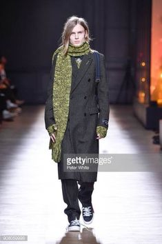 A model walks the runway during the Dior Homme Menswear Fall/Winter 20182019 show as part of Paris Fashion Week on January 20 2018 in Paris France
