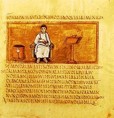 Vergilius Romanus, Vatican, Vatican Library, Cod. Vat. lat. 3867. Folio 14 recto	5th century. #AuthorPortrait of Virgil. Dante made Virgil his guide in Hell and the greater part of Purgatory in The Divine Comedy.
