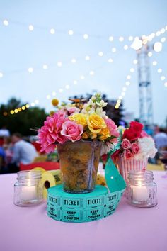 Couture Events:Tracy and Collin's Country Fair Wedding Fun Tabletop