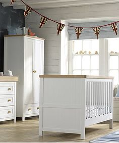 Mothercare Lulworth 3 Piece Nursery Furniture Set   Classic White | Nursery  Furniture, Nursery And Cot Bedding