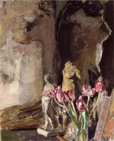 Edouard Vuillard, Tulips and Statuettes 1919  on ArtStack #edouard-vuillard #art
